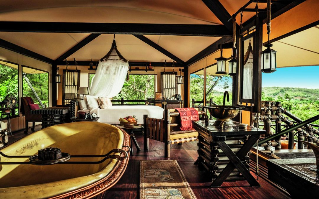 Four Seasons Tented Camp, glamping in Thailand